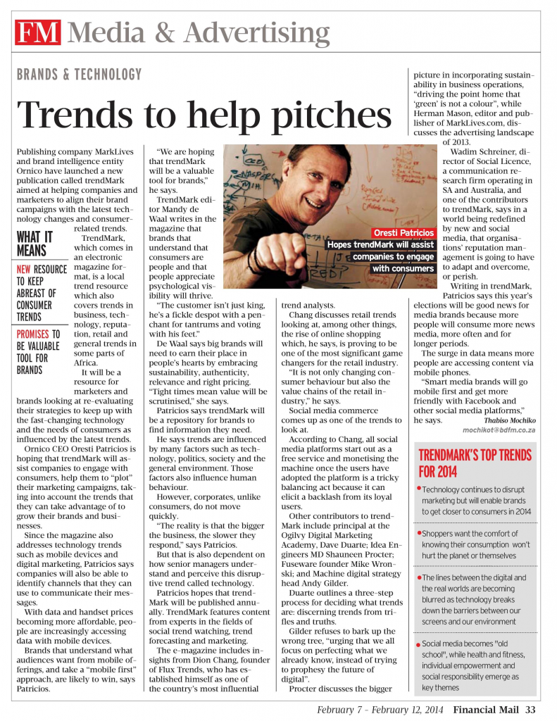 Financial Mail 7 February 2014