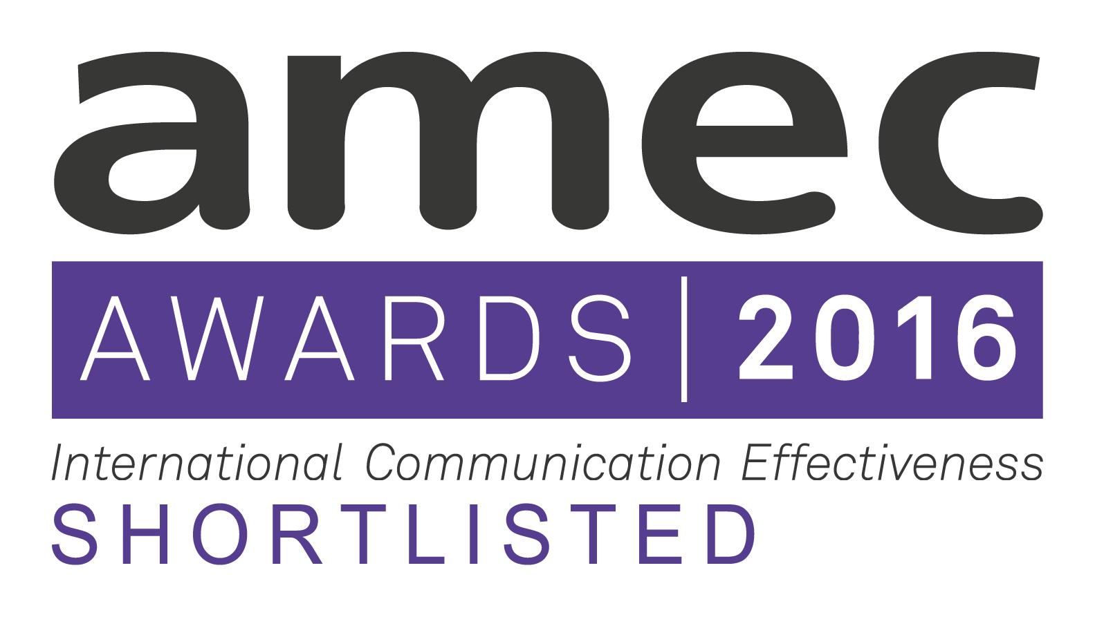 AMEC Awards 2016 Shortlisted