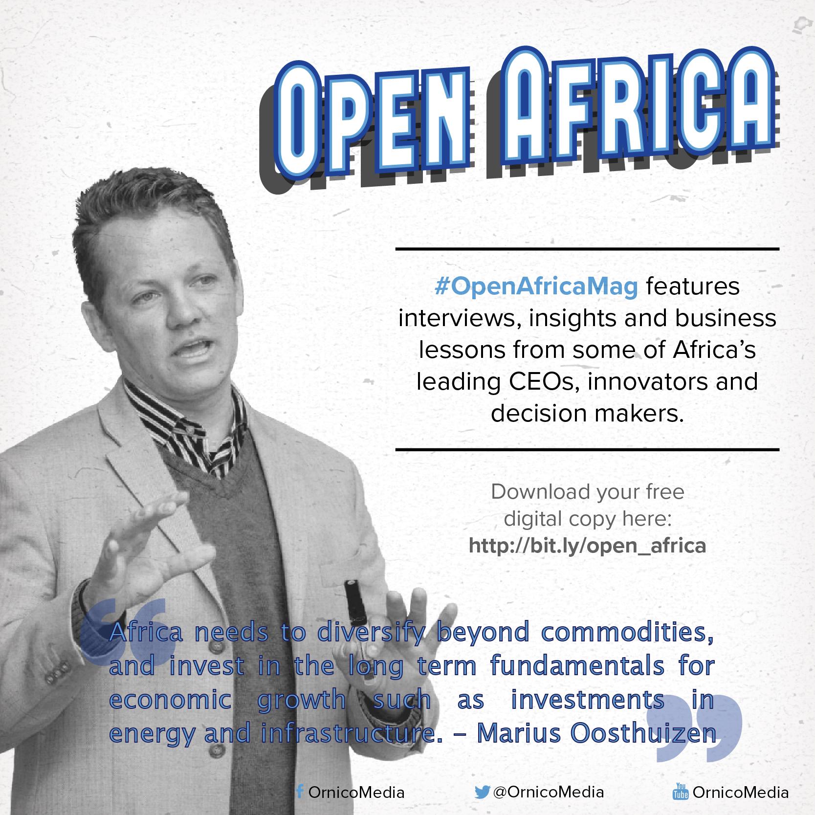 Marius Oosthuizen on #OpenAfrcaMag