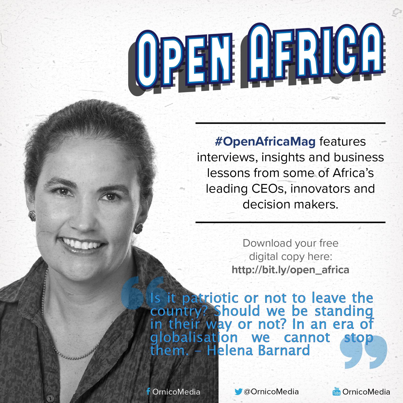 Helena Barnard on #OpenAfricaMag