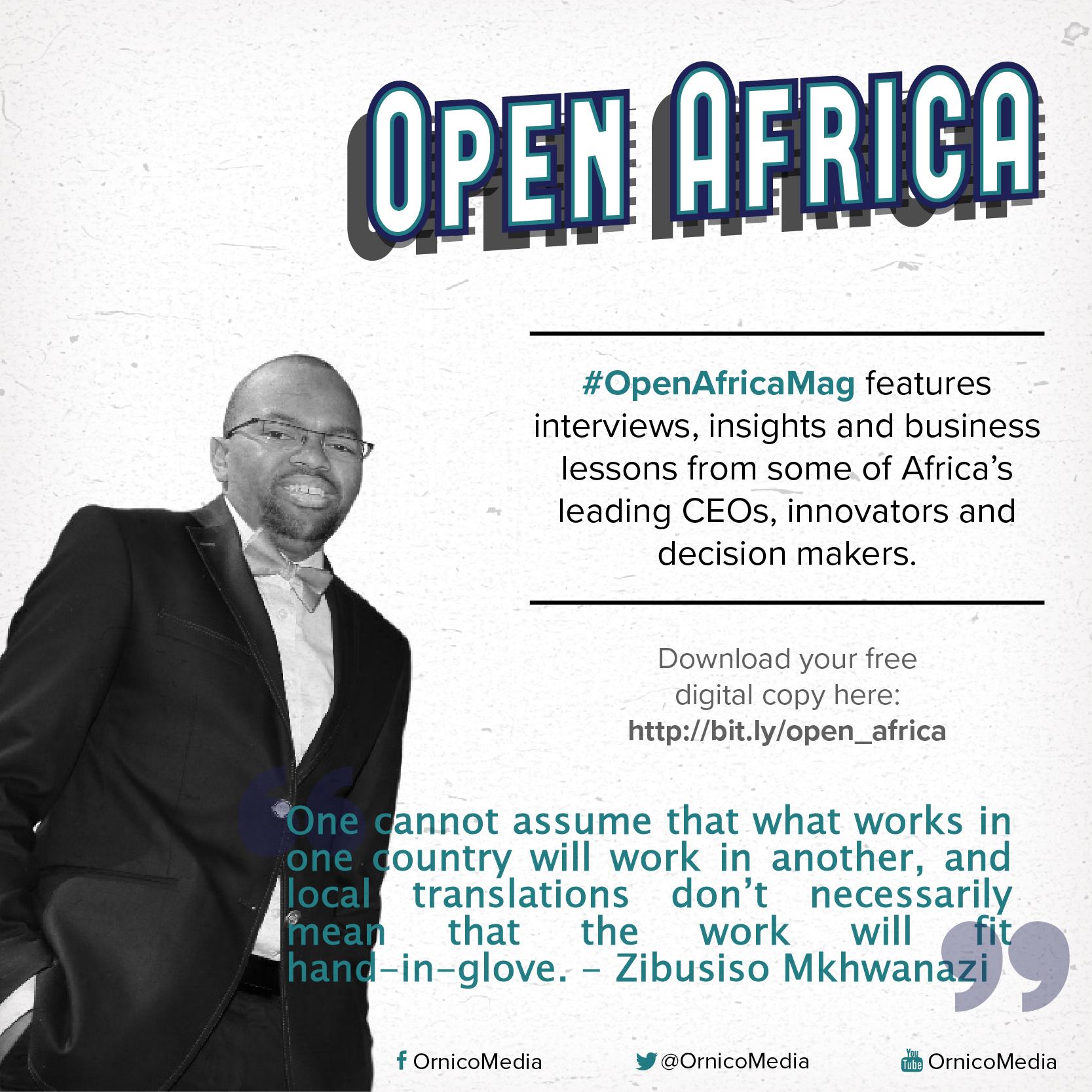 Zibusiso Mkhwanazi on #OpenAfricaMag