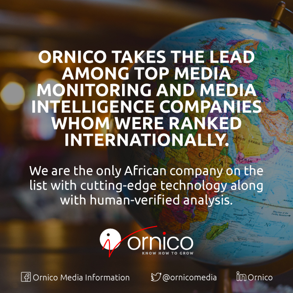 Ornico ranked among world leaders in media monitoring